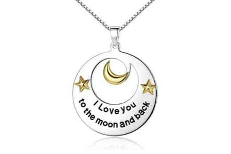 Solo Act - I love you to the moon and back necklace - Save 83%