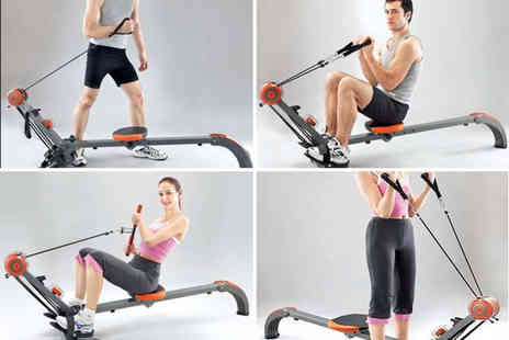 Games & Fitness - 2 in 1 rower and resistance workout unit - Save 55%