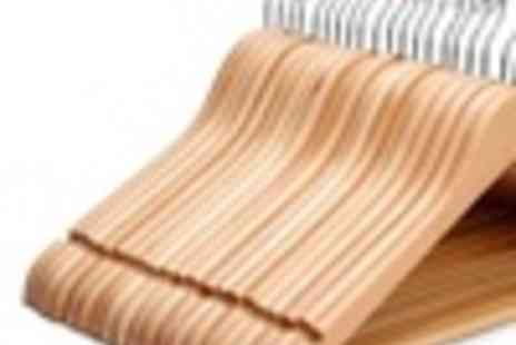 Groupon Goods Global GmbH - Pack of 20 or 40 Wooden Coat Hangers - Save 0%