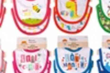 Groupon Goods Global GmbH - Oliver and Olivia Eight Pack of Applique Baby Bibs for Boys or Girls  - Save 0%