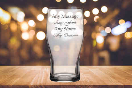 CNC Group - Personalised engraved Tulip pint glass - Save 58%