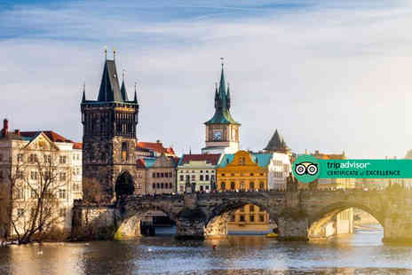 Bargain Late Holidays - A three of four nights Prague city centre getaway with breakfast with the option to choose your flights - Save 46%