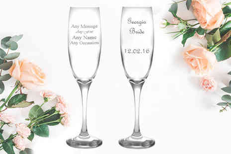 CNC Group - Personalised engraved champagne flute - Save 70%