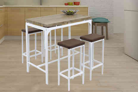 Eurotrade - Breakfast bar dining table and four stools - Save 66%