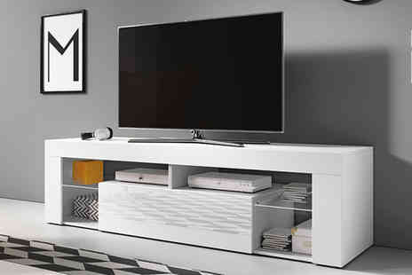 Selsey Living - Hugo Tv cabinet or Led Tv cabinet choose from three colour options - Save 76%