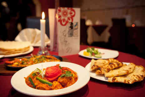 Masala - Authentic Indian dining for two people including a main dish and any rice or naan bread each - Save 48%
