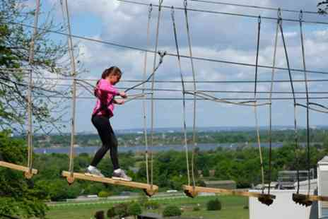 Skywalk Adventures - Two High Rope Course Experience for Two Adults or Family of Four - Save 52%