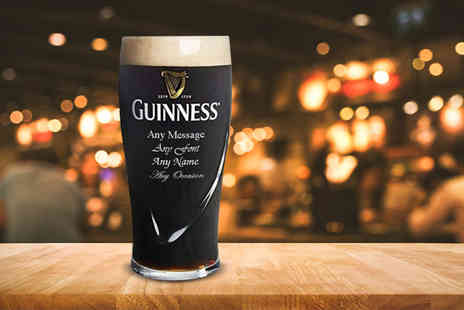 CNC Group - Personalised engraved Guinness pint glass - Save 40%