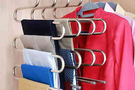 Best mall ever - Space Saving Trouser Hangers Choose 1, 2, 4 or 6 - Save 80%