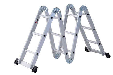 Mhstar - 3.7m Pro Articulated Aluminium Ladder - Save 67%