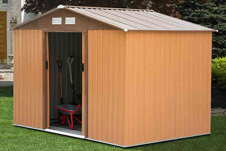 Mhstar - Metal Garden Shed Choose Two Sizes - Save 75%