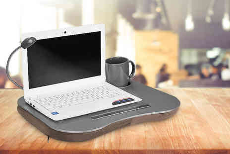 Fusion Homeware - Soft pad laptop tray with inbuilt light - Save 82%