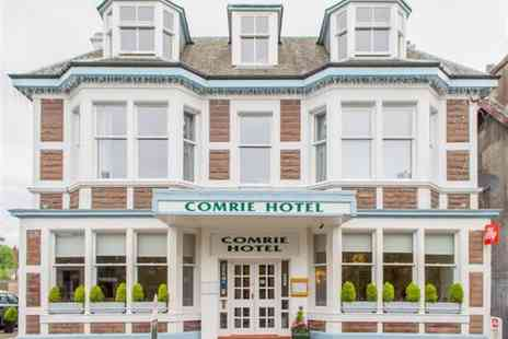 The Comrie Hotel - Overnight stay for two people with a two-course dinner, bottle of wine to share and late checkout - Save 51%