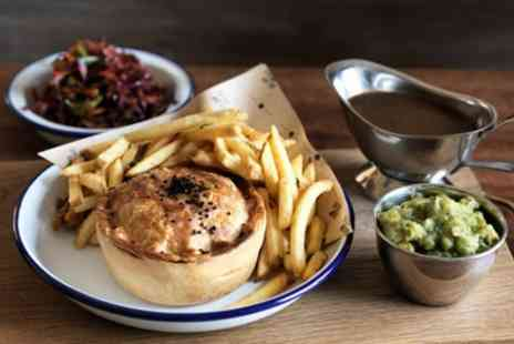 Sup And Chow - Stonebaked Pizza or Pieminister Pie with Side and Dessert for Two or Four - Save 49%