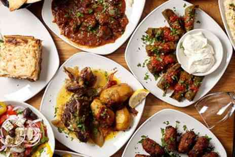 Pure Cyprus - Three Course Greek Meal with Bottle Wine for Two or Four - Save 64%