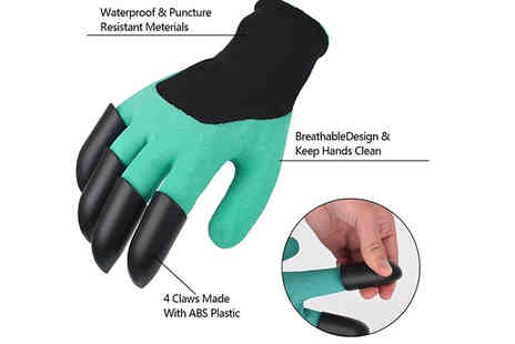 HXT Goods - Multi functional Garden Gloves with Claws Choose 1 or 2 - Save 85%