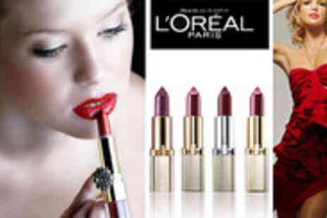 JustShe - Set of 4 LOreal Color Riche Lipsticks. At 69% off, add a touch of elegance and class - Save 69%