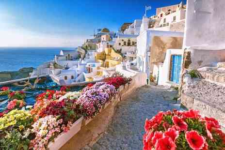 Bargain Late Holidays - Two nights Santorini holiday with breakfast and return flights - Save 28%