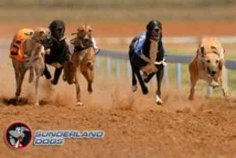 Sunderland Dogs - Night at the dog racing for 2 including burger, chips, 2 drinks each & nightclub entry each - Save 60%