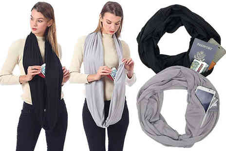 Chimp Electronics - Loop scarf with hidden pockets or Two scarfs - Save 60%