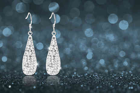 Evoked Design - Pair of dangle teardrop earrings - Save 90%