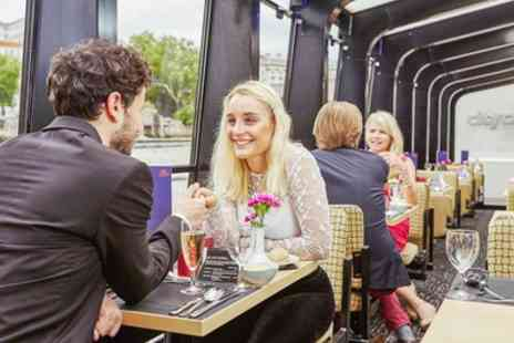 City Cruises - Big Ben and Tower Bridge Cruise with Four Course Meal, Wine and Dancing for Two or Four - Save 38%