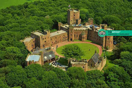 Peckforton Castle - Four Star Overnight Cheshire stay for two people with two course brasserie dining and 10% discount on pre booked spa treatments - Save 55%