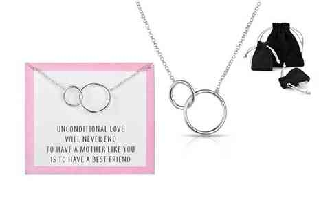 Philip Jones - Link necklace with quote card choose from 4 designs - Save 50%