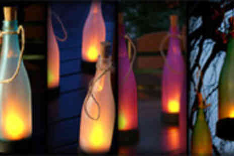 Festive Lights - Solar glass bottle light in a choice of colours - Save 58%