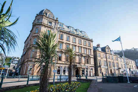 The Royal Hotel - Overnight Oban getaway for two people with breakfast, three course dinner each, glass of fizz each, hot drinks and biscuits, complimentary Wi-Fi and late check out - Save 62%