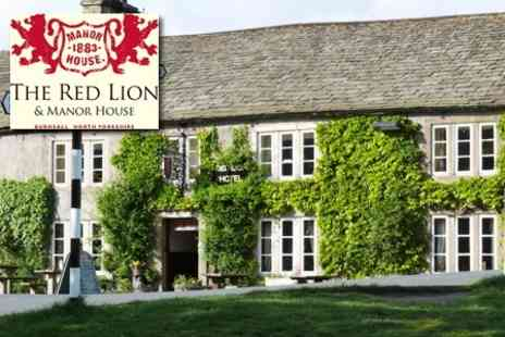 The Red Lion Hotel & Manor House - Overnight Stay In The Yorkshire Dales With Breakfast And Wine - Save 59%