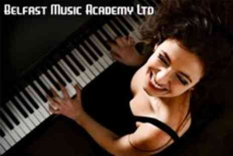 Belfast Music Academy - Three 45 Minute Guitar or Piano Lessons - Save 71%