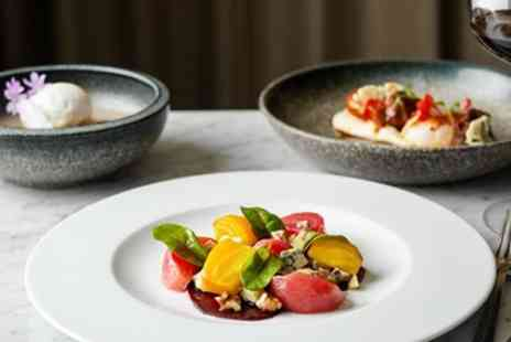 St Pancras Brasserie - Three course meal and wine for Two - Save 0%