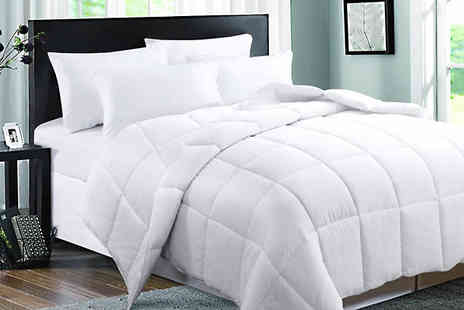 Direct Warehouse - 9 Tog Duck Feather and Down Duvet Available in 4 Sizes - Save 43%