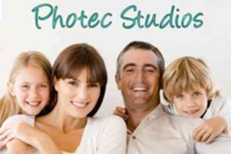 Photec Studios - Family Photo Shoot With Framed Portrait and Four Prints - Save 85%