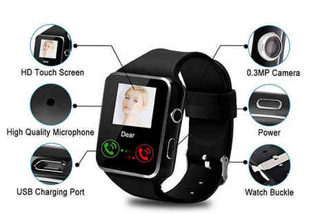 Best mall ever - Fit-iQ A6S Smart Watch Apple and Android Compatible - Save 72%