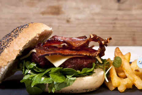 Twist Bar - Burger, fries and cocktail each for two - Save 51%