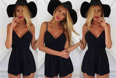 Verso Fashion - Black summer playsuit - Save 62%
