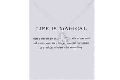 Solo Act  - life is magical unicorn necklace - Save 86%