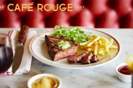 Cafe Rouge - Two or Three Course Meal for Two - Save 57%