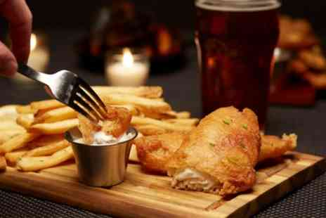White Lion Bar and Kitchen - Burger or Fish and Chips with Drinks for Two or Four - Save 42%