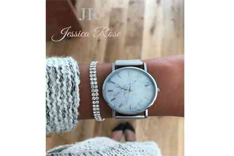 Solo Act - Jessica Rose marble effect watch and bracelet - Save 78%