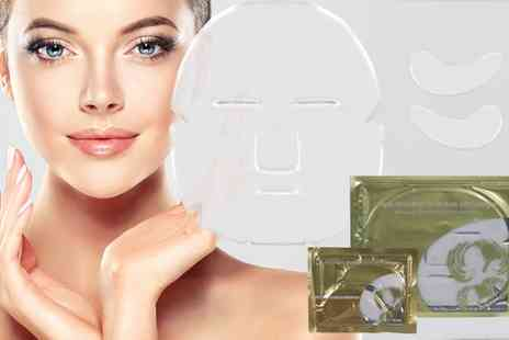 Groupon Goods Global GmbH - Hyaluronic Collagen Face and Eye Masks - Save 0%