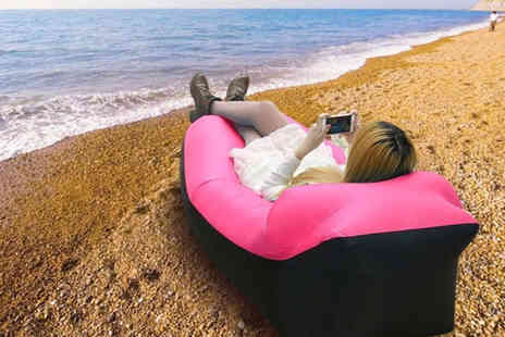 Wow What Who - Inflatable lounger with head rest choose between six colours - Save 63%