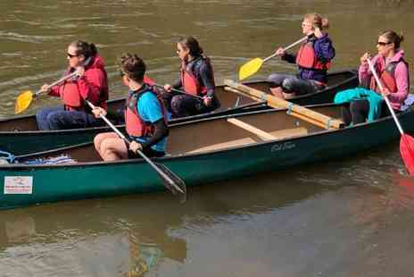 Ross on Wye Canoe Hire - Full day canoe trip for a family of two adults and two children - Save 62%