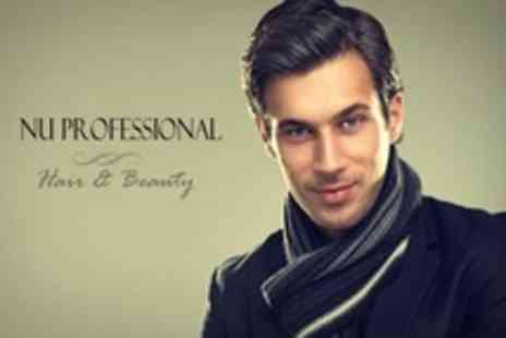 Nu Professional Hair and Beauty - Men's Haircut and Manicure (£11) Plus Back or Chest Wax (£16) at Nu Professional Hair & Beauty (67% Off) - Save 67%
