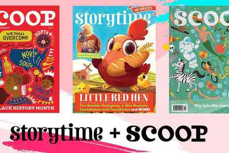 LUMA CREATIVE - Storytime and Scoop Magazine 3 month Bundle Subscription Wonderful Stories, Comics, Activities, Art and More - Save 57%