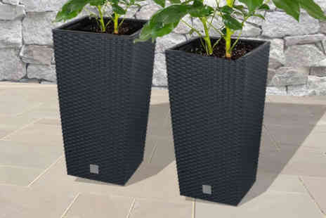 Groundlevel - Rattan outdoor planter - Save 50%