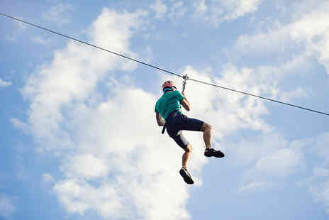 The National Diving & Activity Centre - Zip wire ride get your adrenaline pumping - Save 50%