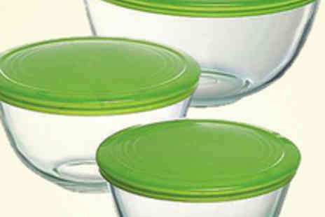 mahahome com - Set of Three Pyrex Bowls - Save 55%